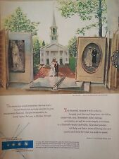 1952 Debeers Day Remember Wedding Chapel Bride Groom Painted Brian Connelly Ad