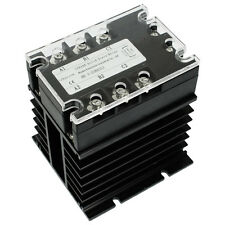 DC-AC 25A 5-32VDC/ 380VAC 3 Phase SSR Solid State Relay w Heat Sink
