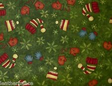 Henry Glass ~ Buggy Barn Snowbound Christmas Hats ~ 100% Cotton Quilt Fabric BTY