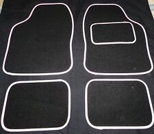 Car Mats Black and White trim mats for Rover 25 45 75 mini streetwise city 620