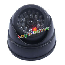 Dummy Fake Surveillance CCTV Security Dome Camera with Flashing Red LED Light