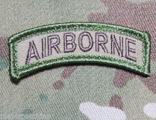 AIRBORNE ROCKER TAB USA ARMY MILITARY INFIDEL ISAF MORALE MULTICAM VELCRO PATCH