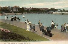 Southsea the canoe lake old pc used 1914 Louis Levy LL 33