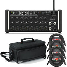 Behringer X Air XR18 18-Input Digital Mixer with Gator Padded Carry Bag & Cables