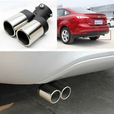 Double Outlets Exhaust Muffler Tail Pipe Tip Tailpipe for Ford Focus 2012-2014