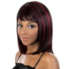 Charming Straight Stylish Women Synthetic Wine Red Highlight Capless Wig Hair