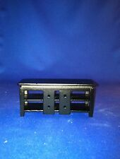 Dollhouse Furniture Town Square Miniatures TV Stand Black  #T5978