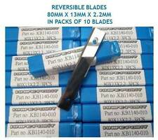 10 pces. 80mm x 13mm x 2.2mm SOLID TUNGSTEN CARBIDE REVERSIBLE TURN BLADES