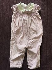 EUC JANIE AND JACK LAYETTE Purple Gingham Smock Outfit Romper One Piece 12 18 mo