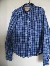 Hollister   Plaid  Blue Red Button Long Sleeve Men's Shirt Sz XL