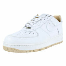 NIKE AIR FORCE 1 LUX ITALIAN LEATHER WHITE WHITE STRAW 310276 111 SIZE 10.5