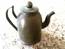 "Antique Miniature Copper Salesman Sample Coffee Pot  3 1/2"" Tall"