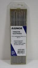 """Radnor 64001965 1/8"""" x 7"""" Ground Finish Lanthana Tungsten Electrode Pack of 10"""