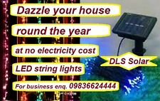 Diwali festival solar string light having 100 LEDs. No electricity required