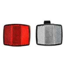 Plastic Handlebar Night Safe Reflector Bicycle Bike Front Rear Warning Light