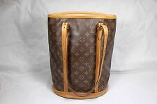 AUTHENTIC Louis Vuitton Monogram Bucket Gm Tote Bag M42236 LV