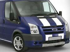 PRE CUT WHITE FORD TRANSIT SPORT BONNET STRIPES DECALS STICKERS GRAPHICS