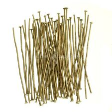 Wholesale 100x Silver Golden Head/Eye/Ball Pins Finding 21 Gauge 10 Size U Pick