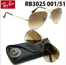 Ray Ban RB 3025 001/51 58mm Gold/Brown Gradient Aviator Sunglasses