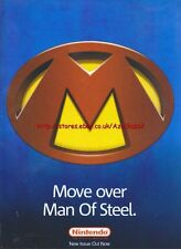 "Nintendo Official Magazine ""Move Over Man Of Steel"" 2006 Magazine Advert #4729"