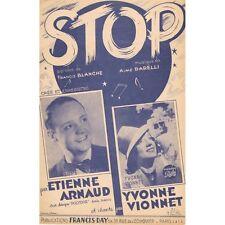 STOP Swing Créé Yvonne VIONNET Paroles Francis BLANCHE Musique Aimé BARELLI 1945