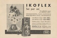 Z1012 Zeiss Ikon IKOFLEX Sei per Sei - Pubblicità d'epoca - 1934 Old advertising