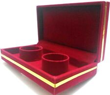 100% Red DELUXE VELVET Bracelet Bangle Watch Jewelry Storage GIFT Case Boxes Set