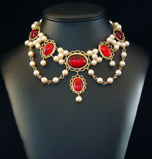 Medieval Renaissance Tudor Necklace for Dress, Gown, Faires, Cosplay, SCA,