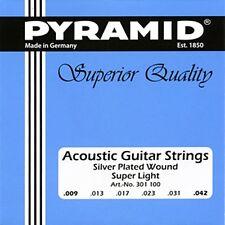 Pyramid Acústica Guitarra Acústico Guitarra Super Light .009 042 Cuerdas KIT