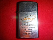 Year 1965 Polished Chrome Zippo Slim Lighter ELPAR THE FRANK COLKER CO.