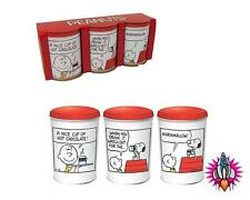 OFFICIAL PEANUTS SNOOPY SET OF THREE I'M AWAKE TEA COFFEE SUGAR CANISTERS TINS