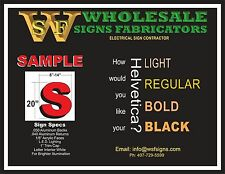 """LED Illuminated Channel Letters Signs for your Business/Store 20""""H"""