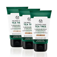 Body Shop~ Tea Tree Mattifying Flawless BB Cream~ Conceals Spots~ 02 Medium 40ml