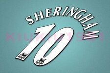 Manchester United Sheringham #10 PREMIER LEAGUE 97-06 White Name/Number Set