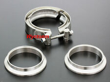"""3"""" V Band Stainless Steel Kit Turbo Downpipe Exhaust CatBack Flange Clamp Pipe"""