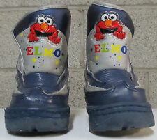 Sesame Street Elmo/Cookie Monster Winter Fleece-lined Snow Boots Sz 5 Lights up