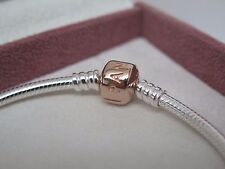 NEW w/GIFT SET Pandora Rose Gold Clasp 6.7 inch Bracelet 17 CM Box 580702 XS