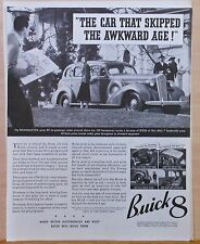 Vintage 1936 magazine ad for Buick -  Roadmaster photo, Skipped the Awkard  Age