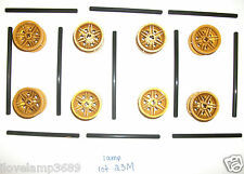 LEGO 56145 Pearl Gold Technic Rim Wheel 10 12 M Rod 4SETS 9444 Ninjago 70727 lot