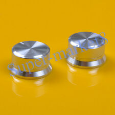 3pcs 24x13 Aluminum Knob Silver For Spline 6mm Shaft Volume Tone Audio AMP Bass
