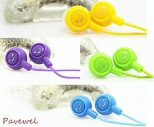 10 pcs/lot smiling face multipurpose earphone earbud with various colors