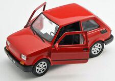 Spedizione LAMPO FIAT 126 ROSSO/RED Welly Modello Auto 1:27 NUOVO & OVP