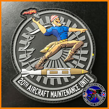 20th Aircraft Maintenance Unit PVC Morale Patch, B-52H Barksdale Air Force Base