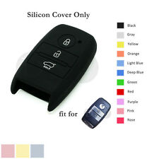 Silicone Cover Holder fit for KIA Sorento Carens Smart Remote Key Case Fob BK