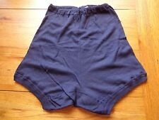 VINTAGE 1950/60S NAVY BLUE COTTON REGULATION SCHOOL KNICKERS