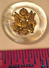 VINTAGE MILITARY SHELL BUTTON FILIGREE EAGLE SHIELD HOLDING OLIVE BRANCH ARROWS