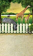 5x7ft Giraffe Zebra Photography Backdrop Background Vinyl Props Cloth