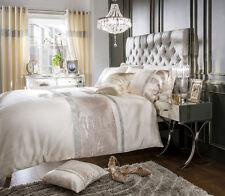 Luxury Velvet Diamante Duvet Cover With Pillowcase, Designer Bedding Set