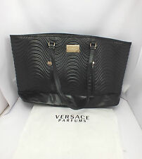 BRAND NEW 100% GENUINE VERSACE HANDBAG TOTE SHOPPER WEEKEND TRAVEL WITH DUSTBAG