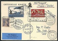 Switzerland covers 1926 special Flight PC Basel-Zürich + Cinderella + Fieldpost